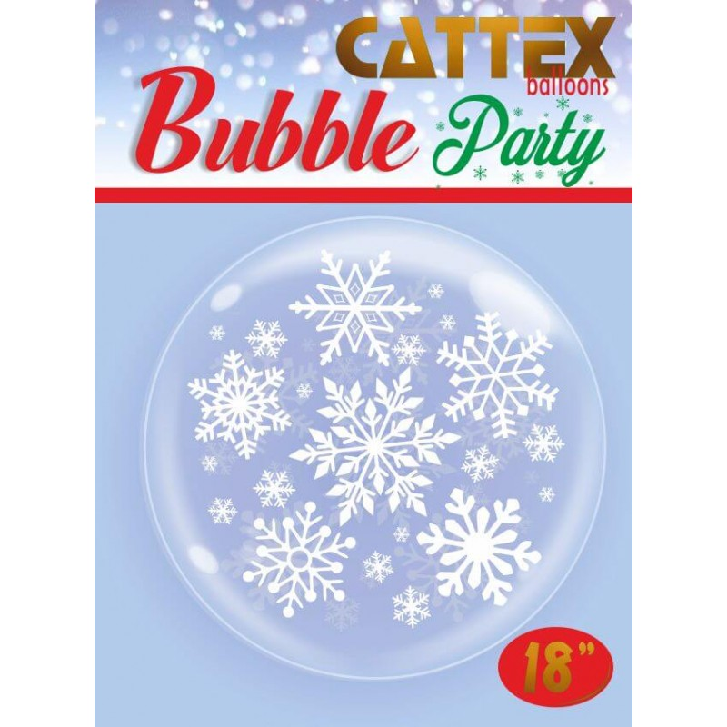 Clear Bubble Balloons Snowflakes - Cattex