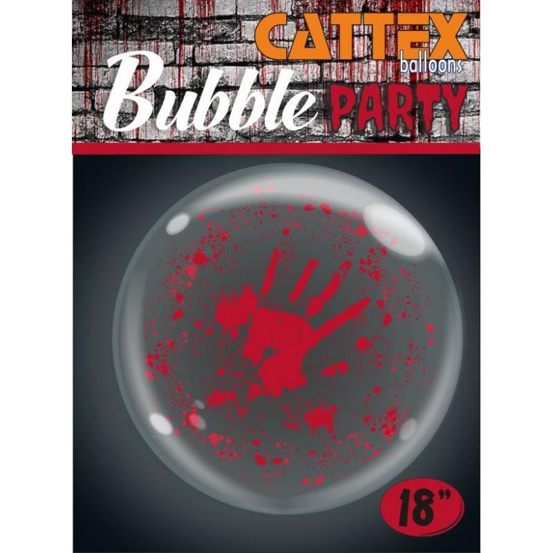 Palloncini Bubble Trasparenti Mani Insanguinate  - Cattex