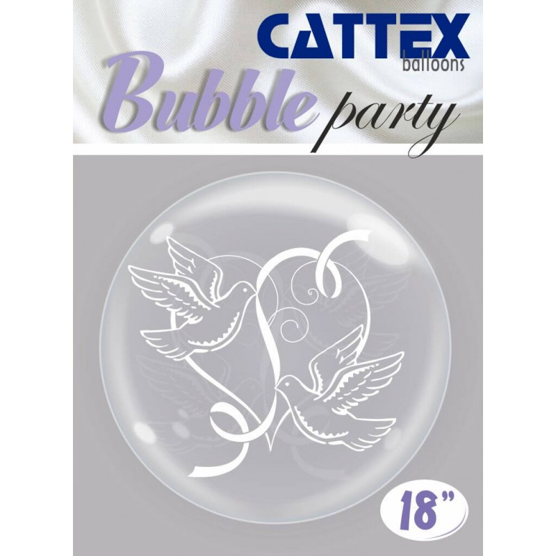 Clear Bubble Balloons Doves - Cattex