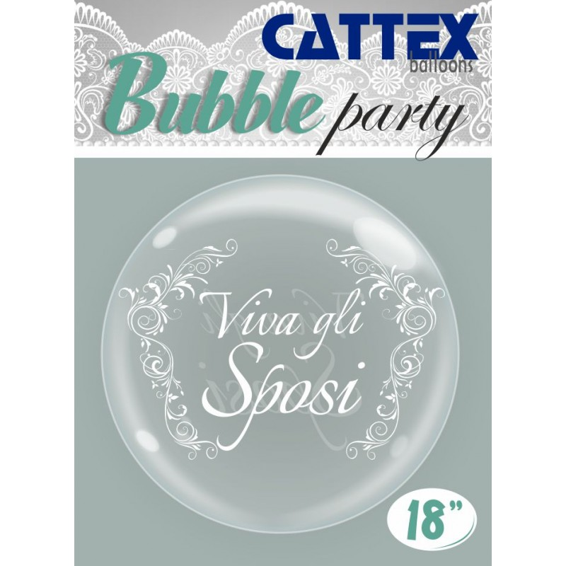 Clear Bubble Balloons Newlywed - Cattex