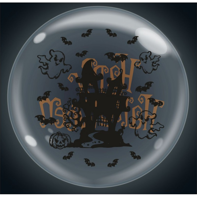 Clear Bubble Balloons Halloween - Cattex