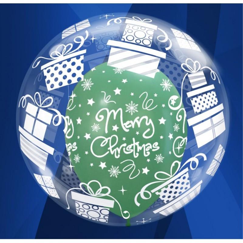 "Christmas Presents Deco Bubble Balloons (24"")"