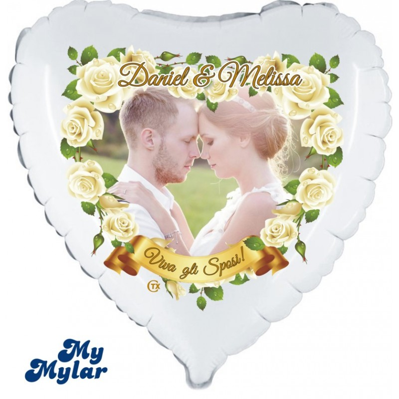 """MyMylar - Just Married Photo (18"""")(PM/MM001)"""