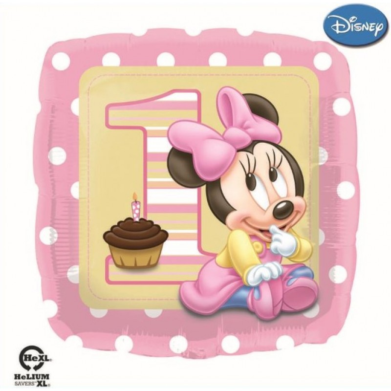Minnie Mouse First Birthday Balloons (Cattex)