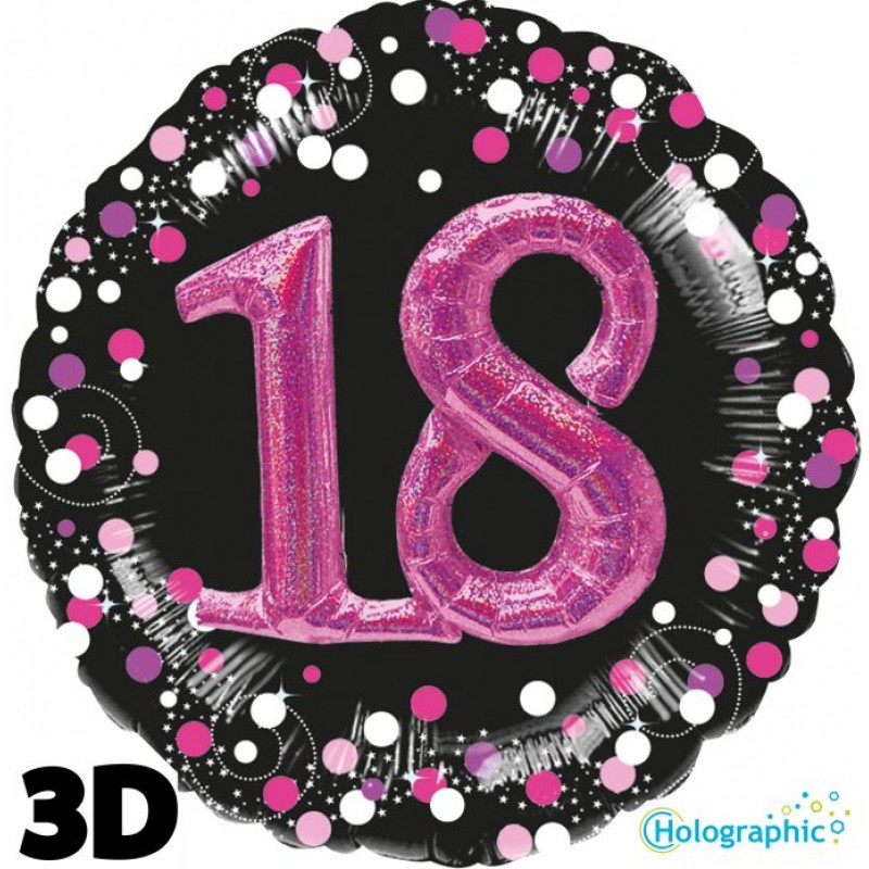 18th Sparkling Pink Birthday Balloons