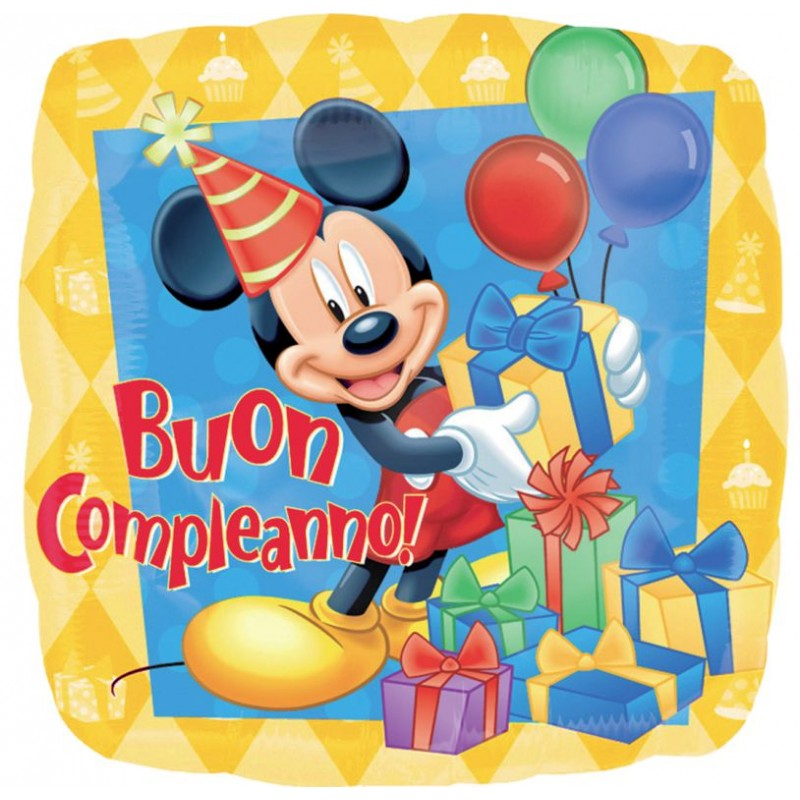 Mickey Mouse Foil Birthday Balloons Cattex