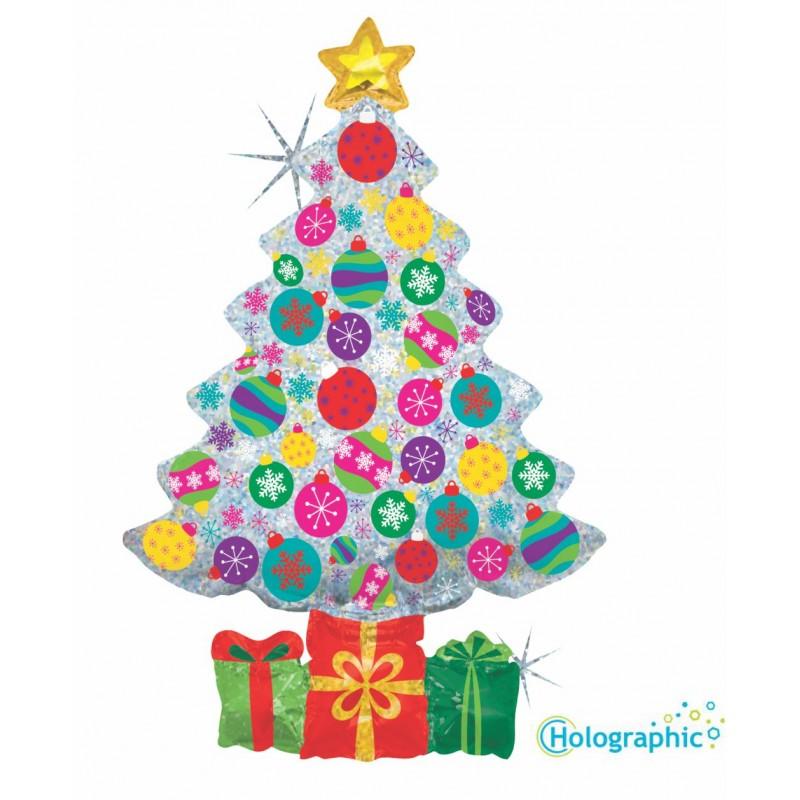 Holographic Christmas Tree.Sparkling Christmas Tree 39