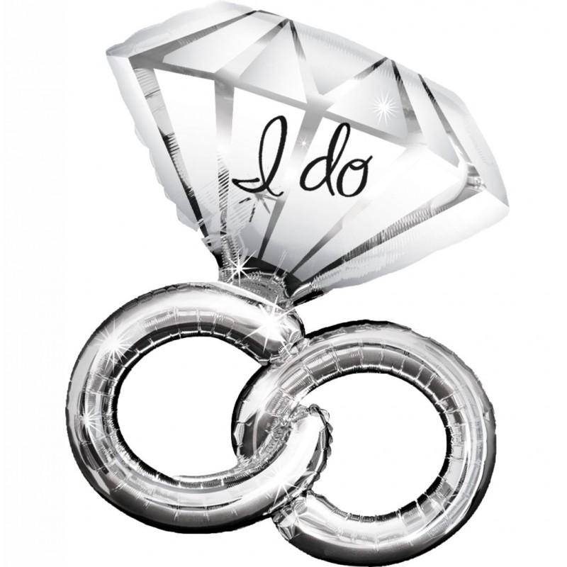 Wedding Rings Foil Balloons (Cattex)