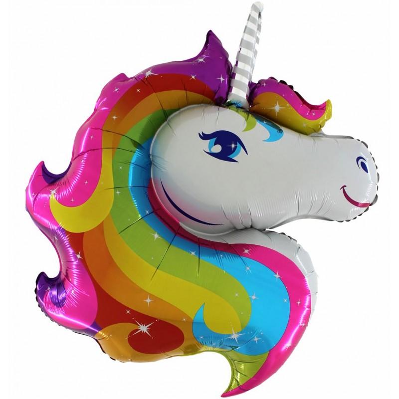 Unicorn Shaped Foil Balloons (Cattex)