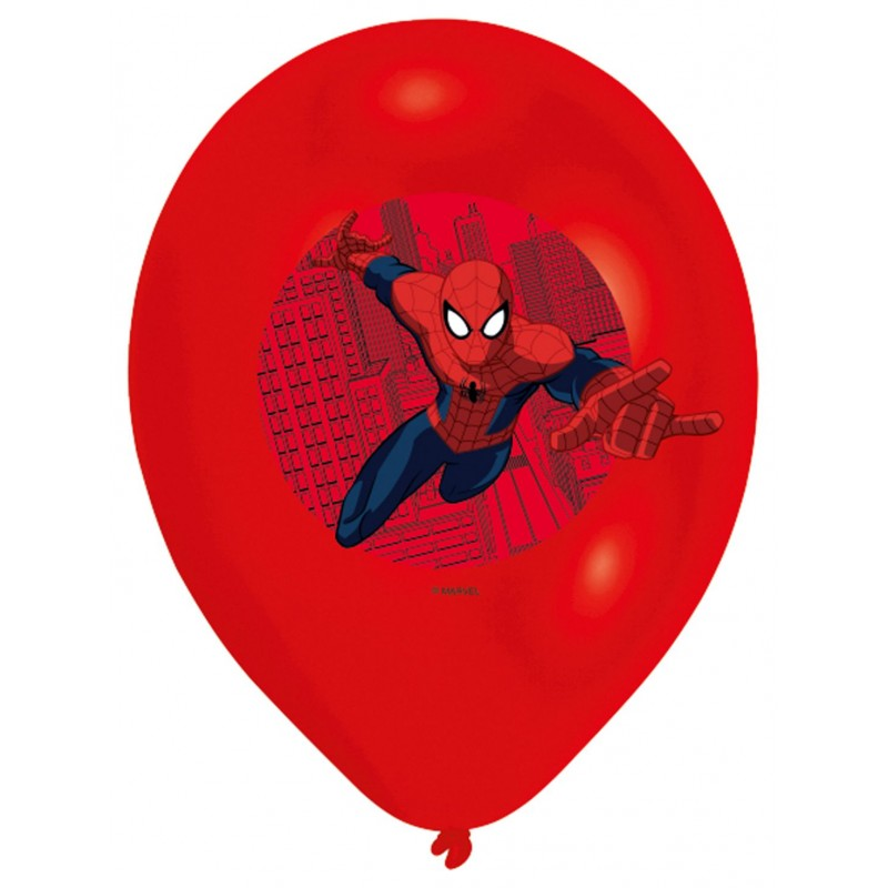 Spiderman Balloons Multiple Colors (Cattex)