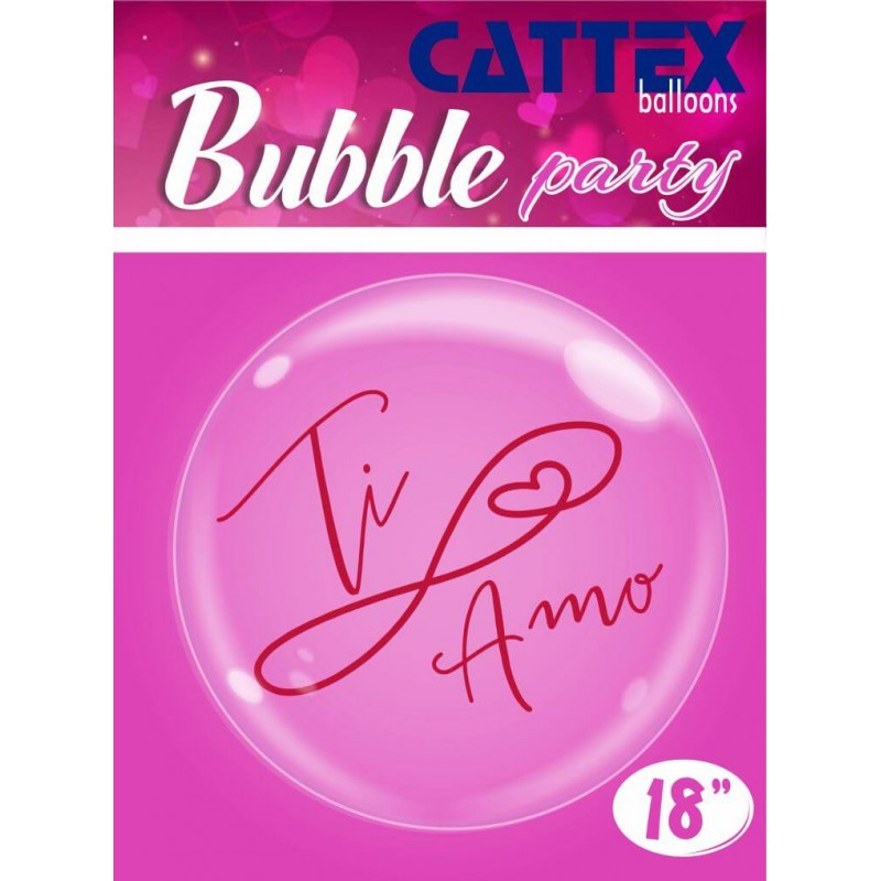 """Clear Bubble Balloons With """"Ti Amo"""" Print by Cattex"""