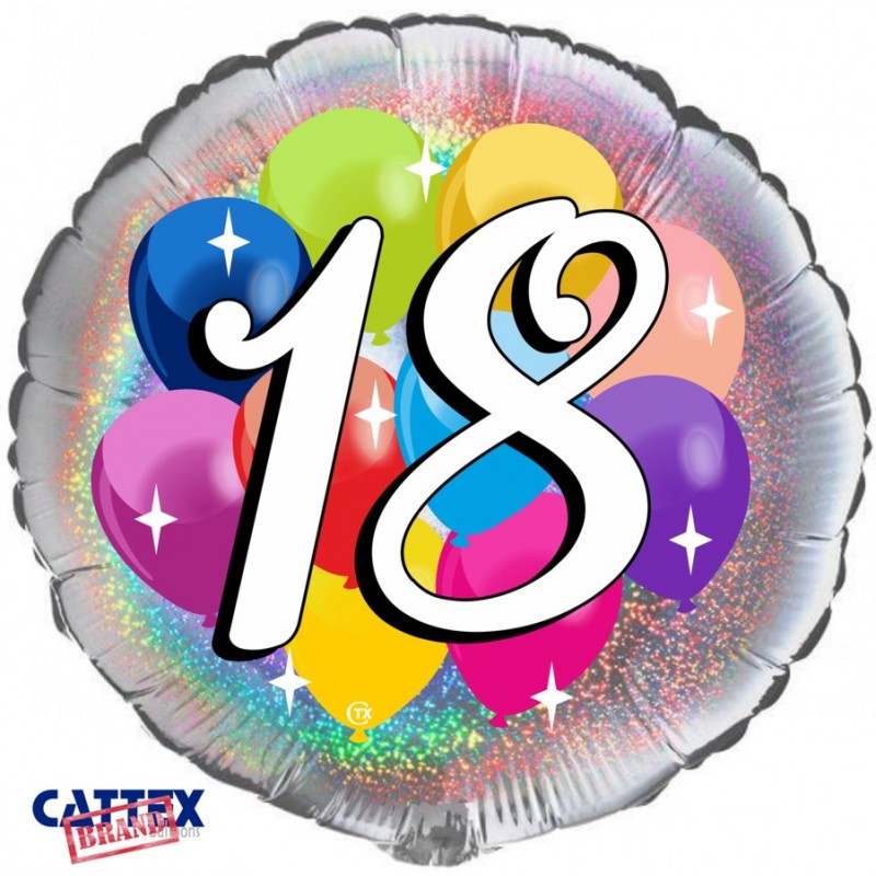 """Cattex - Mylar Balloons 18 years Party (18"""")"""