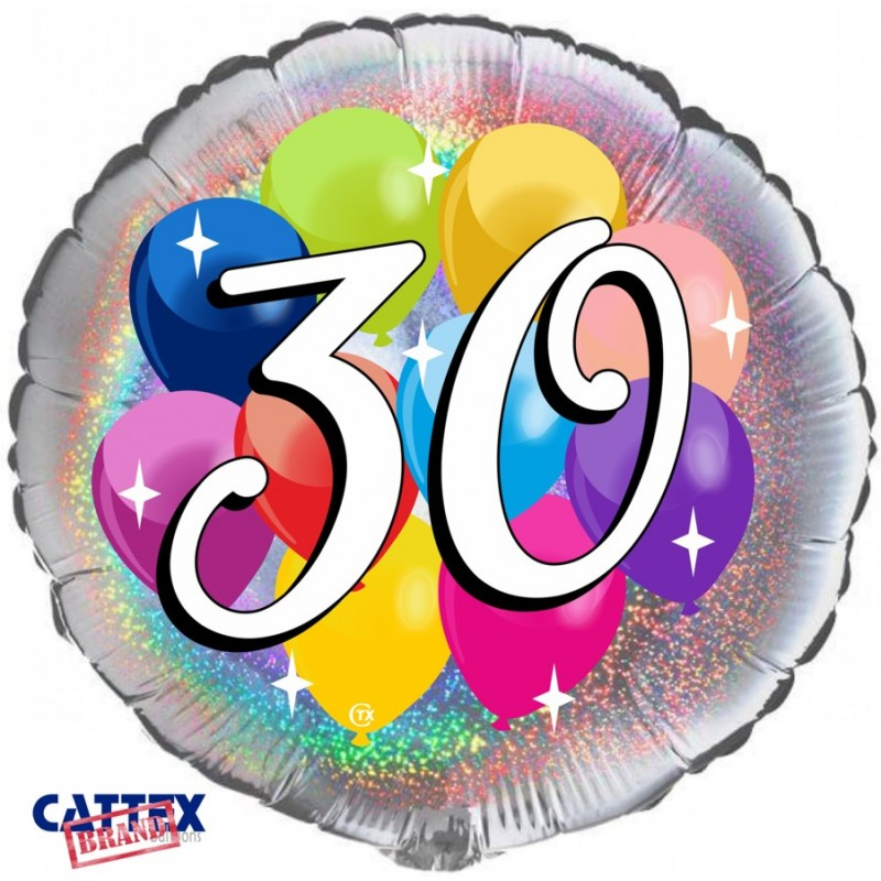 """Cattex - Mylar Balloons 30 years Party (18"""")"""