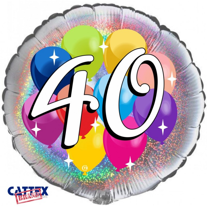 """Cattex - Mylar Balloons 40 years Party (18"""")"""