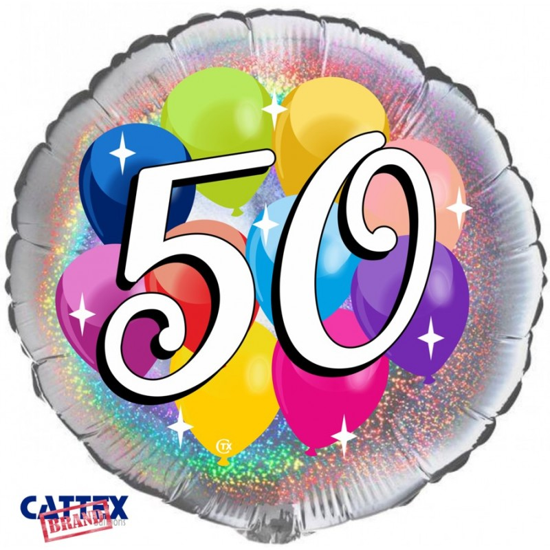 """Cattex - Mylar Balloons 50 years Party (18"""")"""