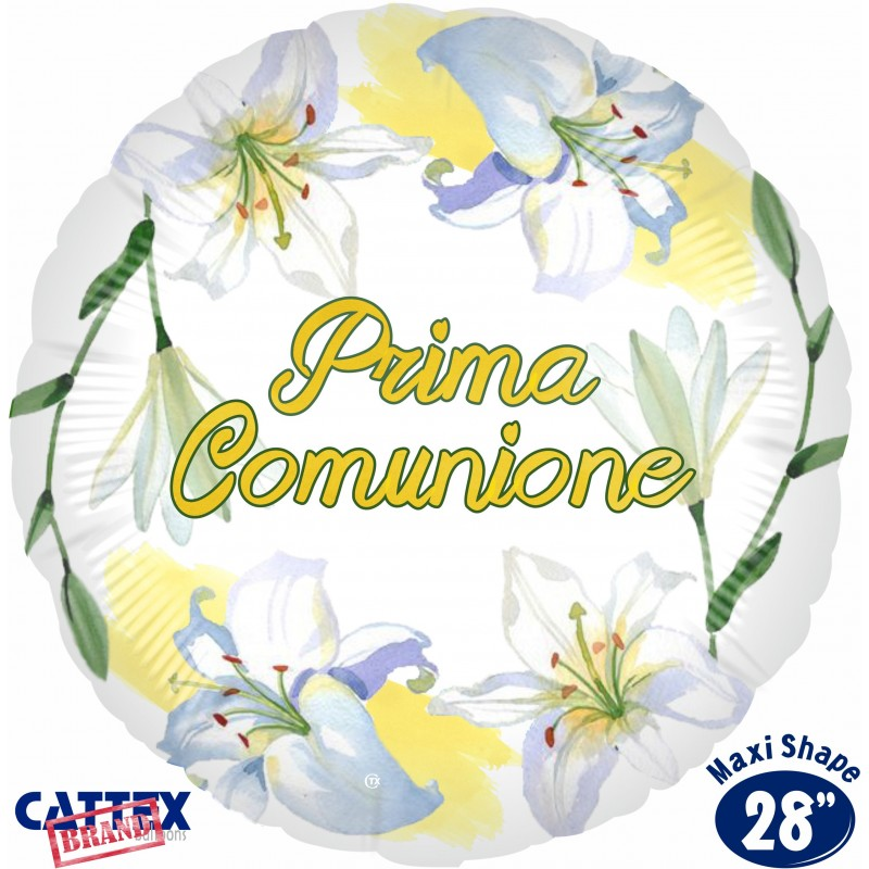 """Cattex - Mylar Balloons First Communion Lily (28"""")"""
