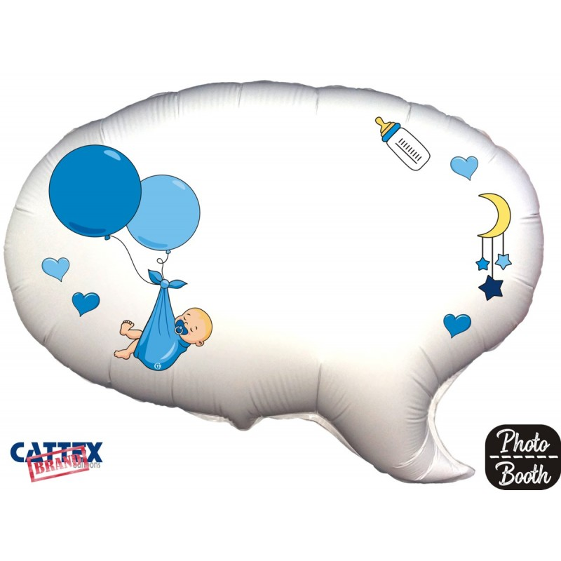 "Cattex - Mylar Balloons Baby Boy Balloons Selfie (24"")"