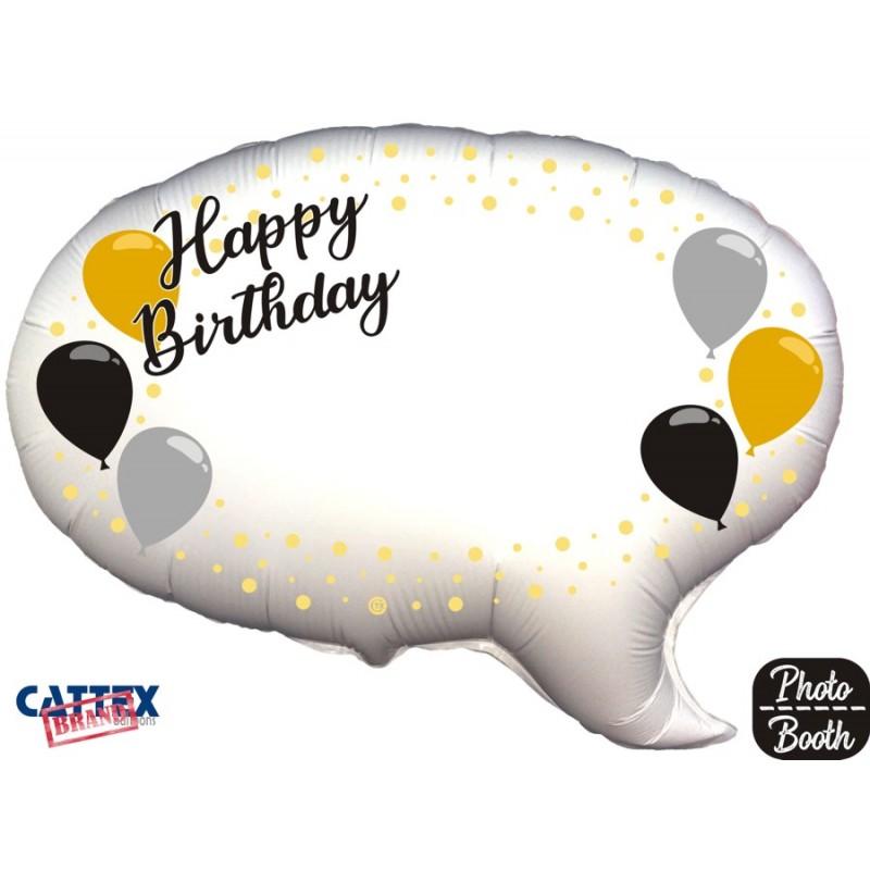 """Cattex - Mylar Balloons Elegant Happy Birthday Selfie (24"""")"""