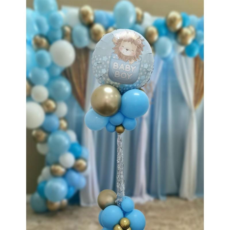 "Cattex - Mylar Balloons Baby Boy Cute Lion (18"")"