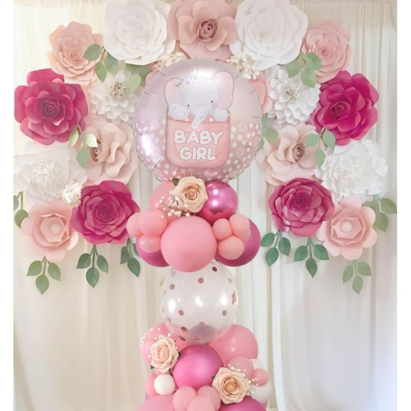 "Cattex - Mylar Balloons Baby Girl Cute Elephant (18"")"