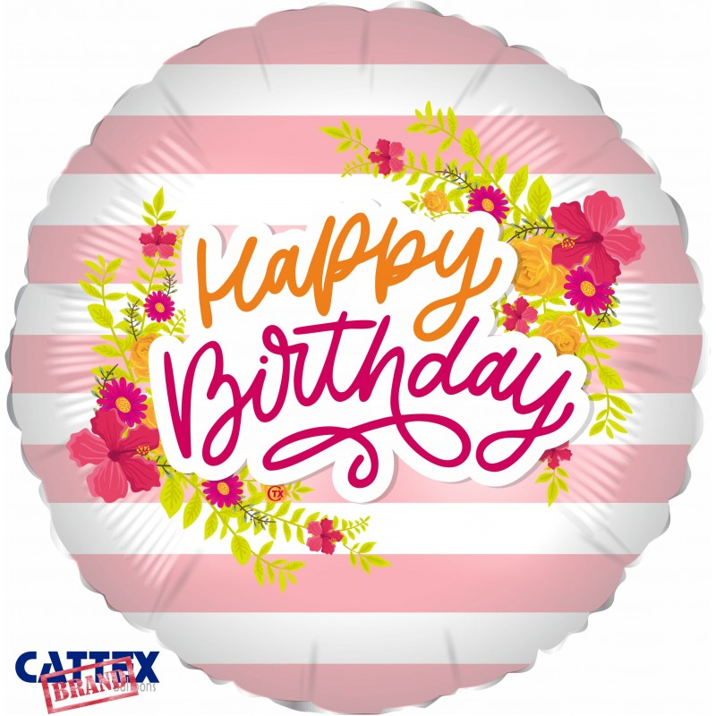 """Cattex - Mylar Balloons Tropical Birthday Party (18"""")"""