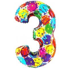 """40"""" Numero """"3"""" Decorati Maxi"""