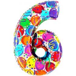 """40"""" Numero """"6"""" Decorati Maxi"""