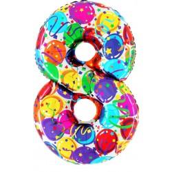"""40"""" Numero """"8"""" Decorati Maxi"""