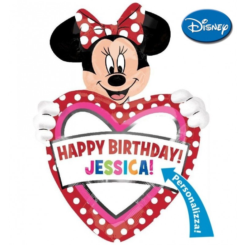 """Minnie Birthday Personalizable XL® SuperShapes™ (39"""")(PM/DC203)"""