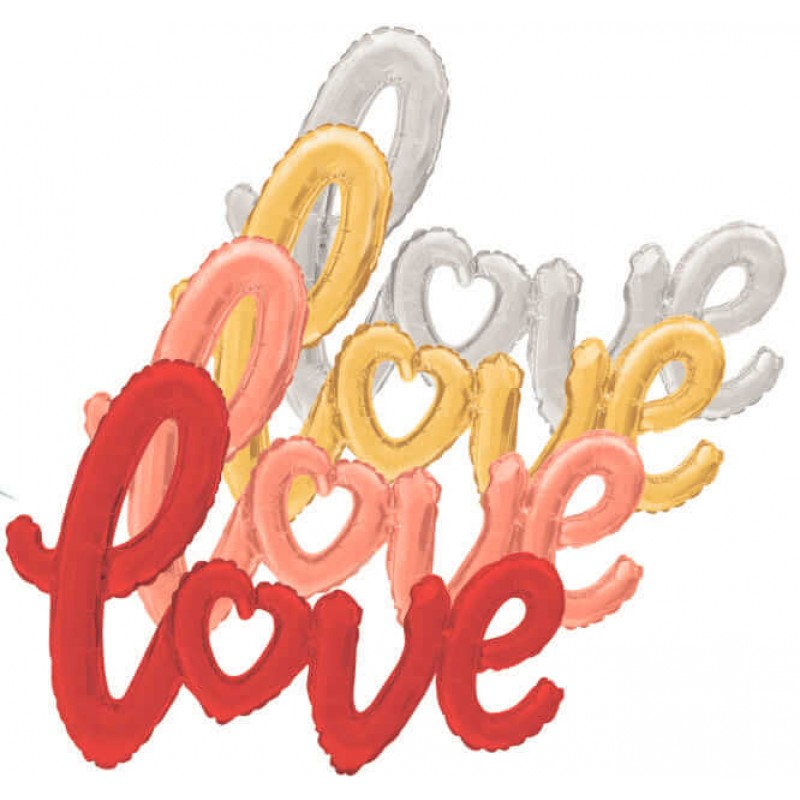 Love Script Foil Balloons - 47 Inch by Cattex