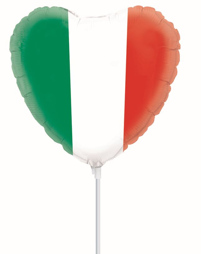 Italian Flag Heart MiniShape (9</p>