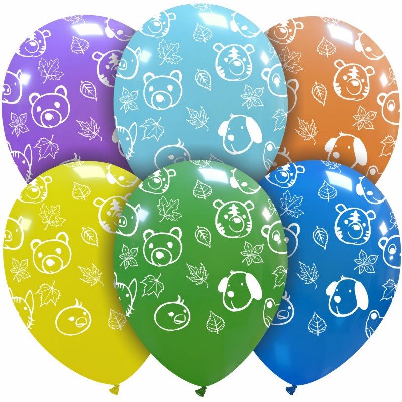 Cattex 12 Inch Assorted Balloons With Puppies Printed All-Around
