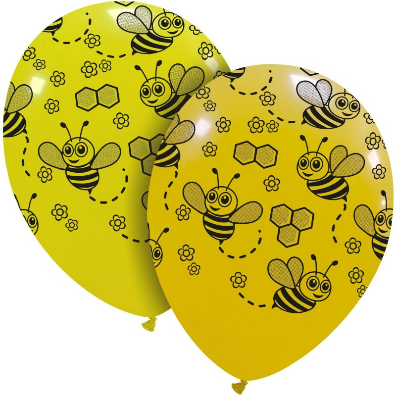 Cattex 12 Inch Yellow Balloons With Bees