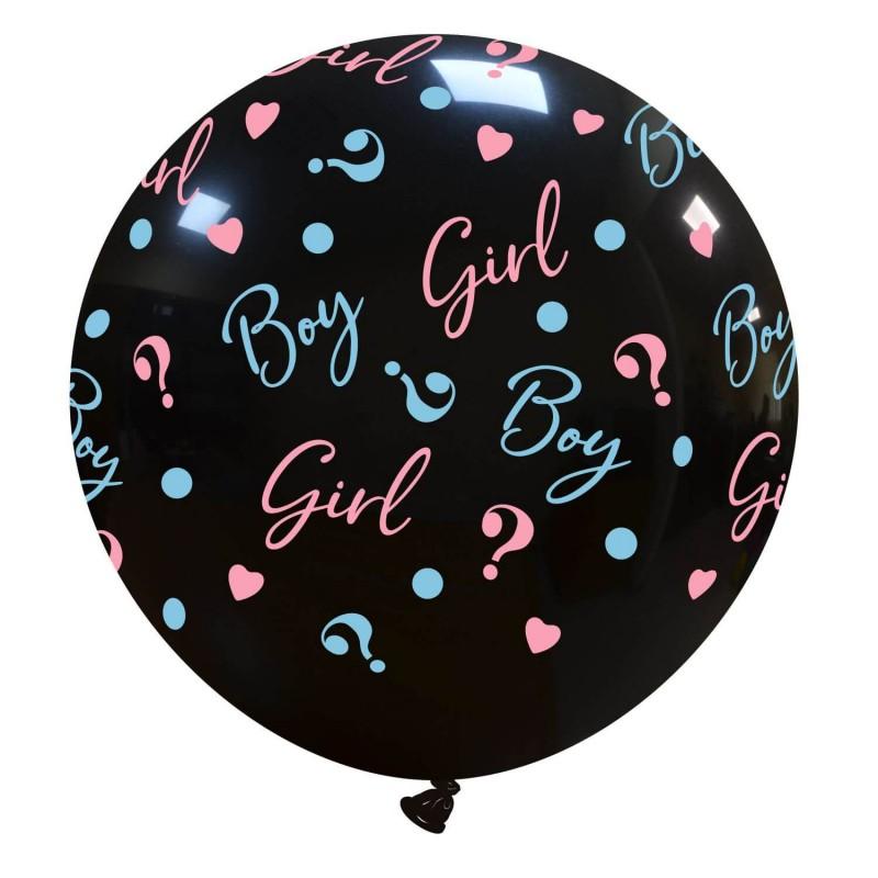 Cattex Black 32 Inch Boy or Girl Balloons