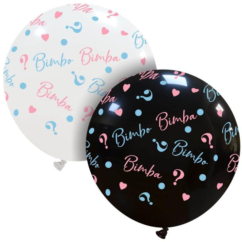 Cattex Black or White 24 Inch Bimbo o Bimba Balloons