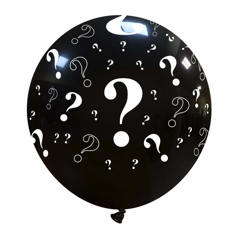 Cattex - Giant Black 24 Inch Balloons With Question Marks