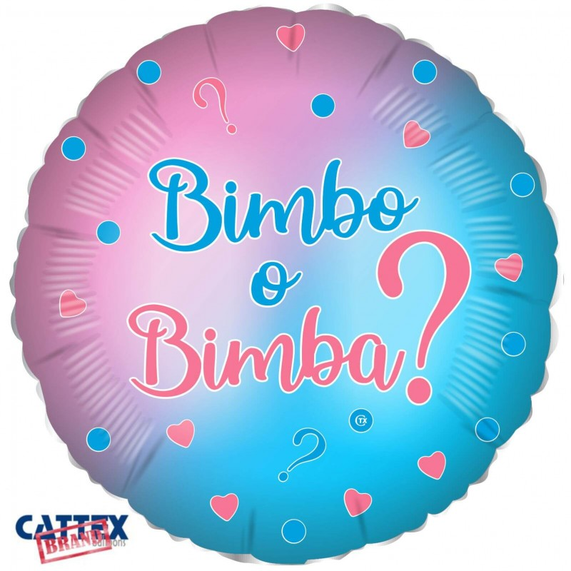 Cattex 18 Inch Colorful Bimbo o Bimba Foil Balloons