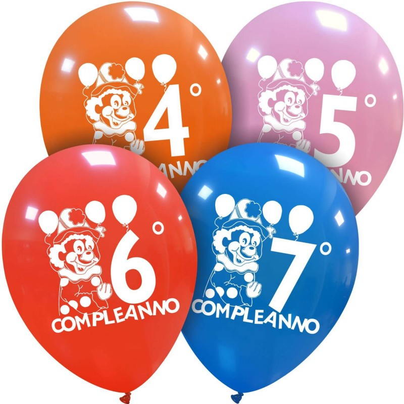 Cattex Colorful Birthday Balloons With Clown