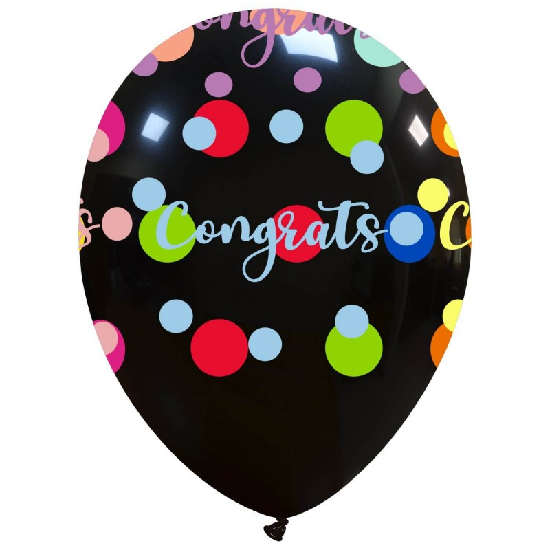 Cattex Congratulations Balloons With Colorful Polka Dots