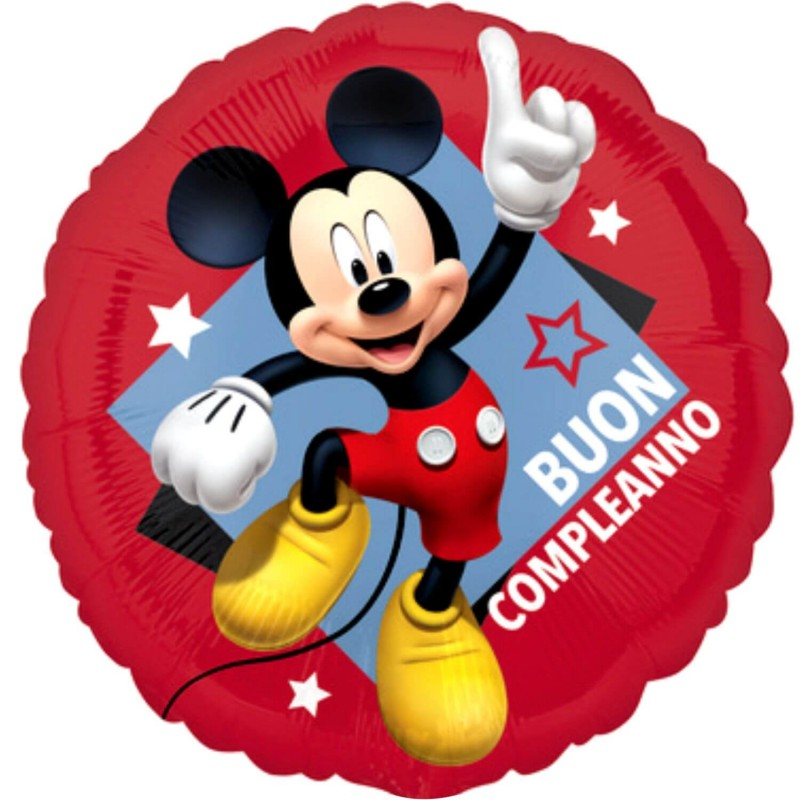 Mickey Mouse Buon Compleanno Foil Balloons