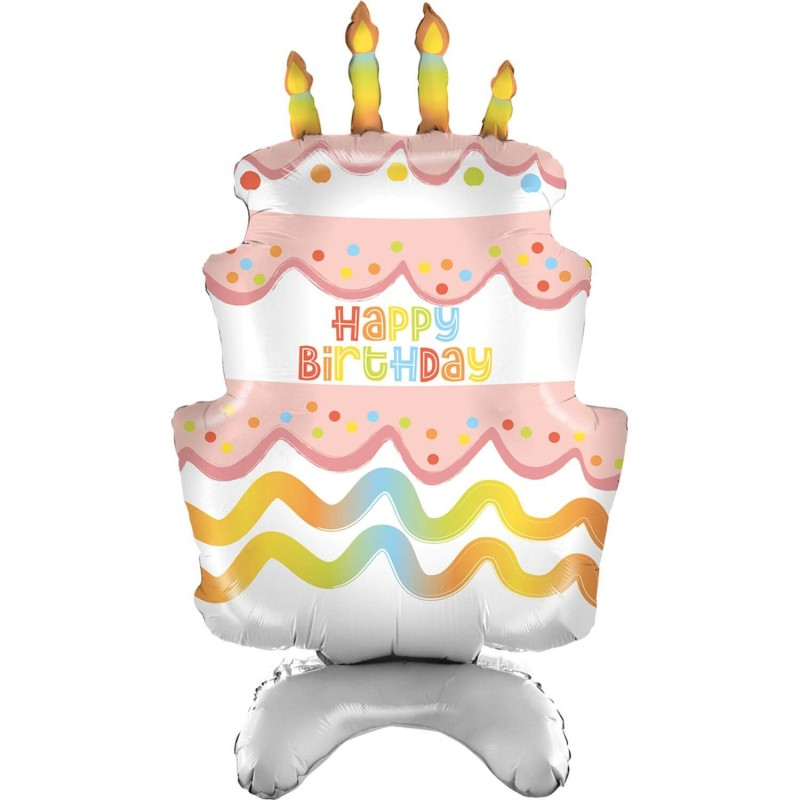 Cattex Stand Up Birthday Cake Foil Balloons