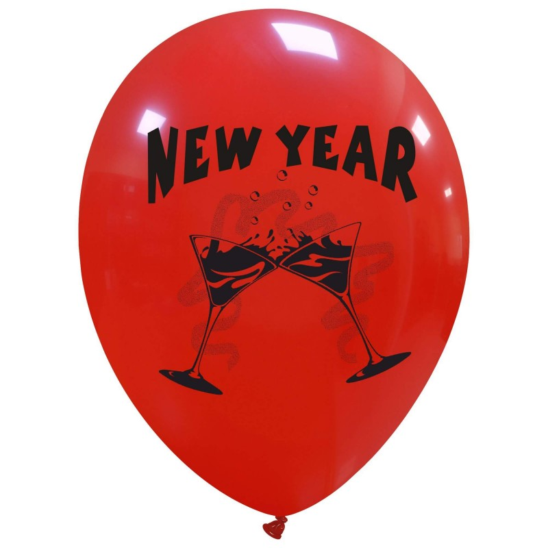 Cattex - limited edition red 12 Inch new year balloons