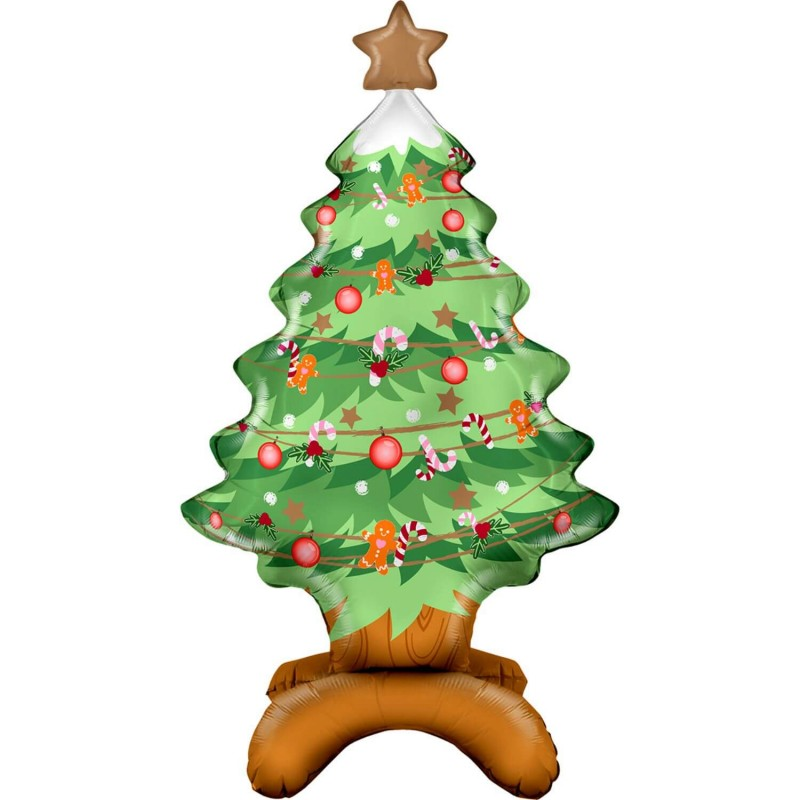 Cattex Self Standing Christmas Tree Foil Balloons