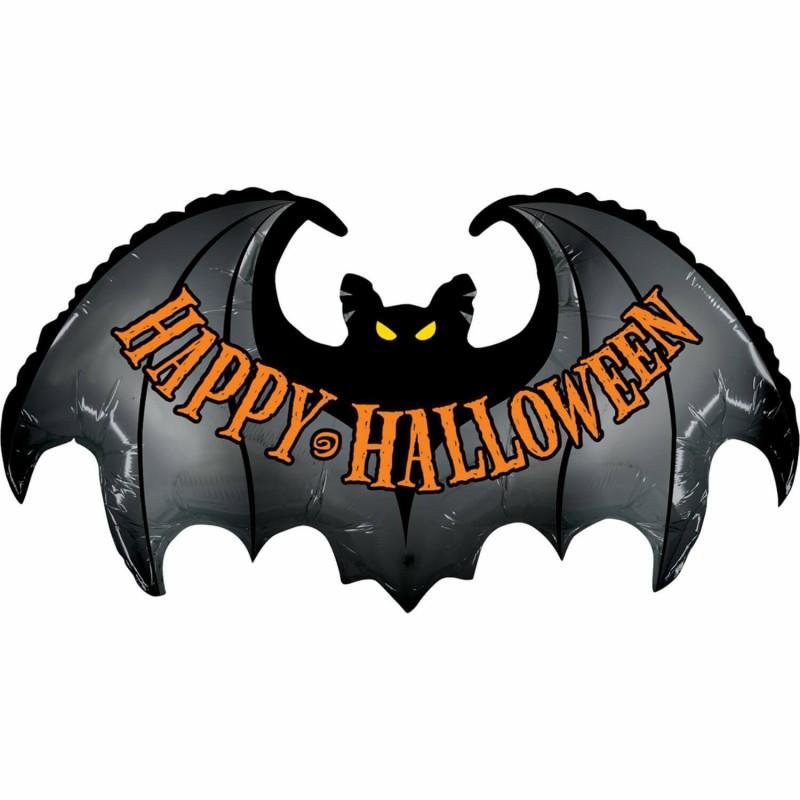 Cattex Bat Shaped Happy halloween Balloons