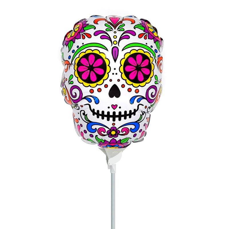 Cattex Sugar Skull Minishape Foil Balloons