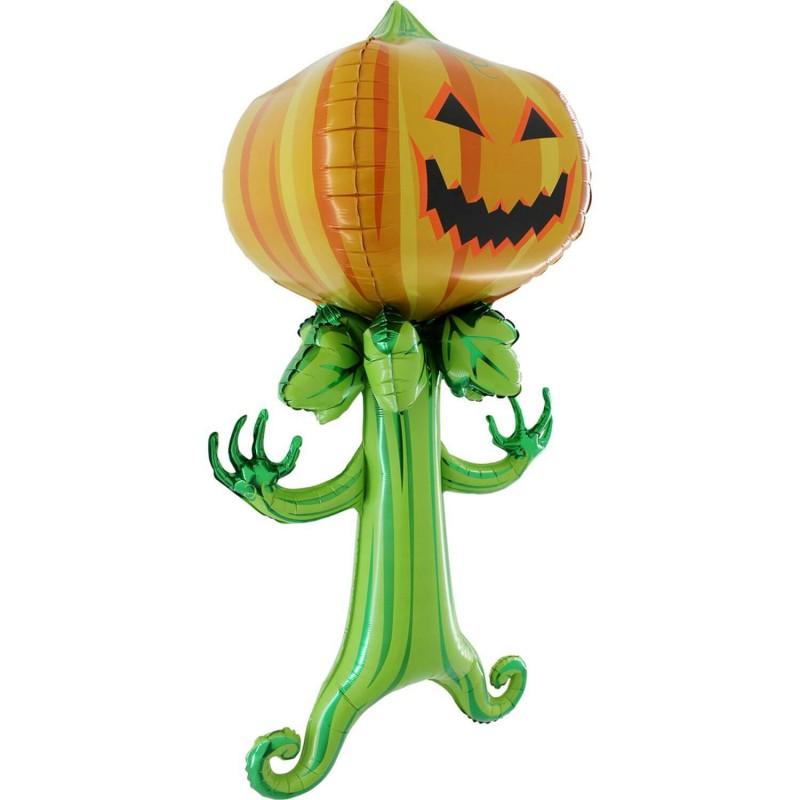 Cattex 60 Inch Scary Pumpkin Shaped Airwalker Balloons