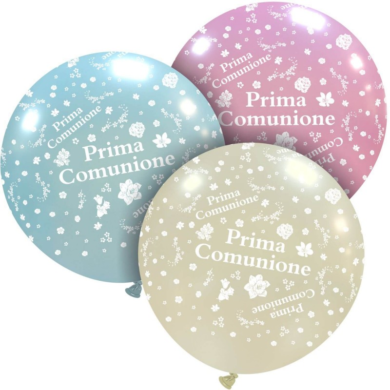 Giant Metallic Balloons First Communion - Cattex