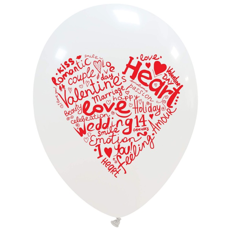 Heart Made of Words Balloons (Cattex)