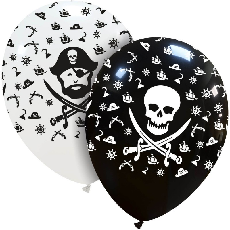 Cattex Pirates Balloons On Biodegradable Latex