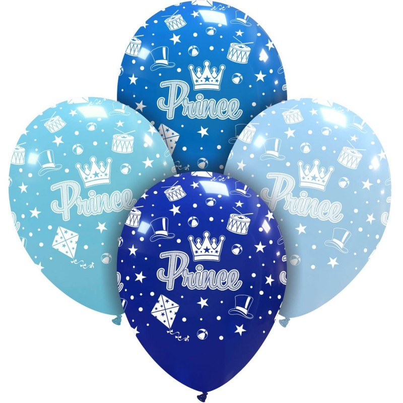 Cattex 12 Inch Blue Balloons With Prince Print